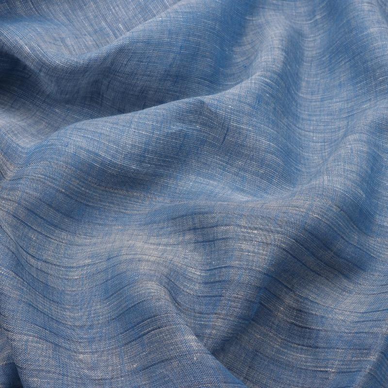 HANDWOVEN ASH BLUE LINEN SARI-WIIGS054- Design View