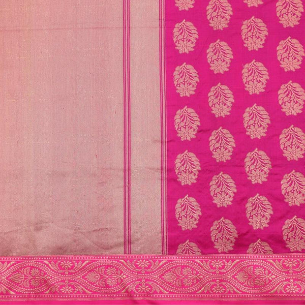 Handwoven Cream Banarasi Silk Tissue Sari - WIIRJ992009 - Full View