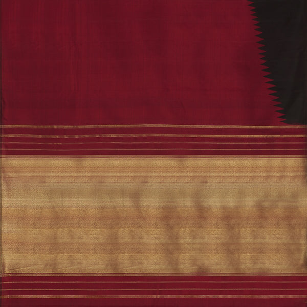 A Two Toned Handwoven Kanjivaram Silk Sari- WIICS034