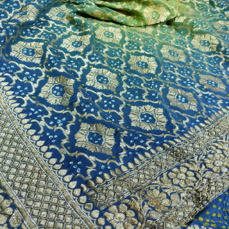 Two shaded Bandhani Dupatta - WeaveinIndia