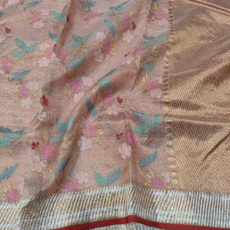 Rose Gold Kota Silk Saree