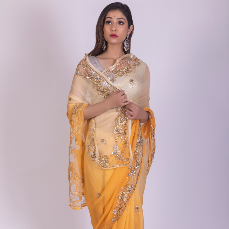 Roop Marwar Yellow Indrani Saree