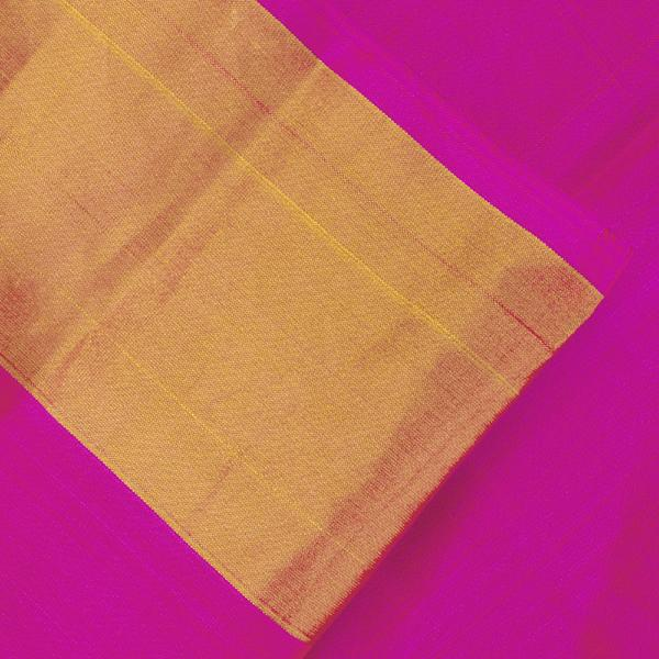 HANDWOVEN PURPLE AND PINK SINGLE IKAT RAJKOT PATOLA SARI-WIISHNIKARIDNAM0176- blouse View