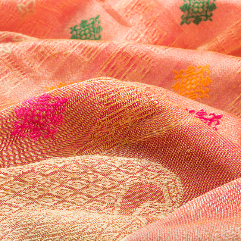Onion Pink Banarasi Silk Saree