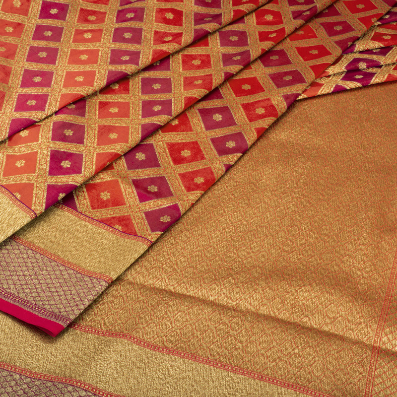 Multicoloured Banarasi Silk Saree