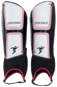 Precision Vector Shin & Ankle Pads - Black/White/Red