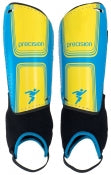 Precision Vector Shin & Ankle Pads - Cyan Blue/Yellow