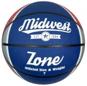 Midwest Zone Basketball Blue/White/Red