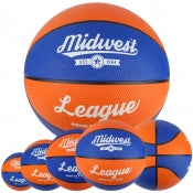 Midwest League Basketball Blue/Orange