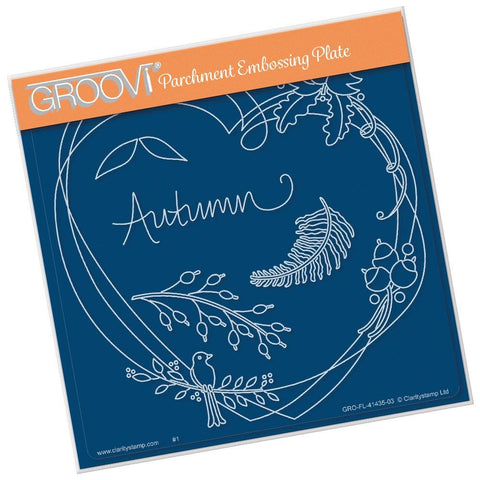 Entwined Autumn Heart Wreath <br/>A5 Square Groovi Plate