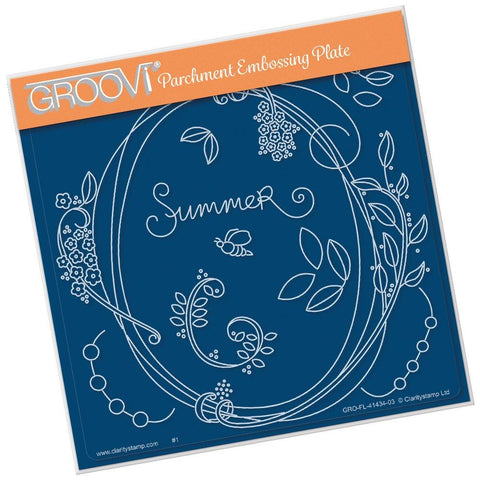 Entwined Summer Oval Wreath <br/>A5 Square Groovi Plate