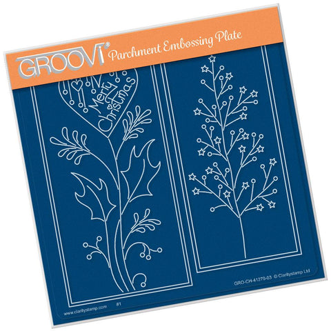 Tina's Merry Christmas Panels <br/>A5 Square Groovi Plate