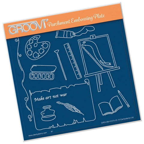 Art - Hobbies & Pastimes A5 Square Groovi Plate