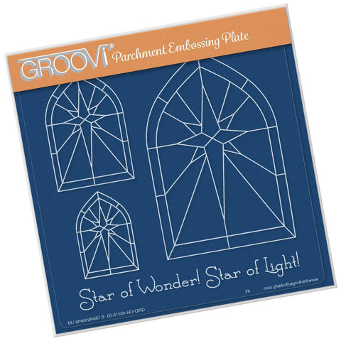 Star Window <br/>A5 Square Groovi Plate <br/>(Set GRO-CH-40424-03)