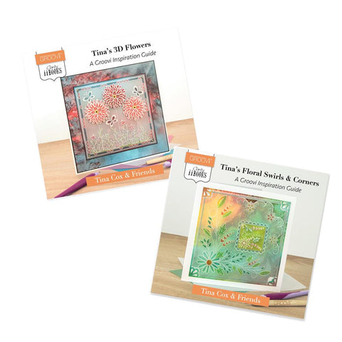 Clarity ii Books: Tina's 3D Flowers & Floral Swirls  <br/>Groovi Inspiration Guide Bundle
