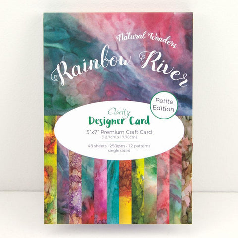 "Rainbow River <br/> Designer Card Pack 5"" x 7"" - Petite Edition"