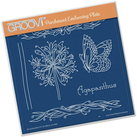 Jayne's Agapanthus Name <br/>A5 Square Groovi Plate