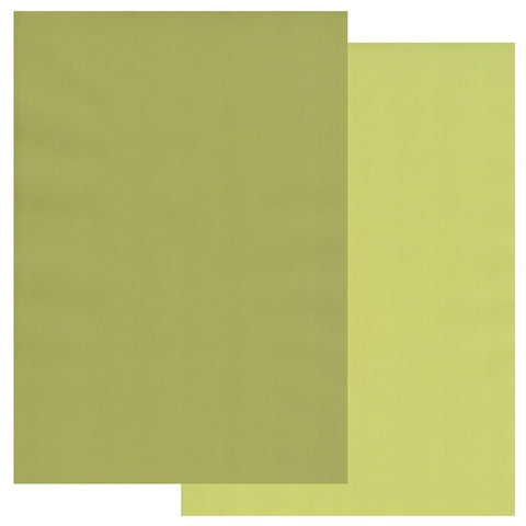 Apple Green & Pear Green x10 Groovi Two Tone Parchment Paper A4