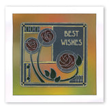 Art Nouveau Best Wishes A6 Groovi Plate