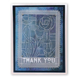 Art Nouveau Thank You A6 Groovi Plate