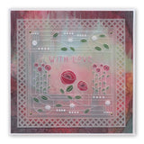 Art Nouveau Bed of Roses A6 Groovi Plate(Set GRO-FL-40881-02)