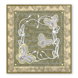 Butterflies With Words <br/> A5 Square Groovi Plate <br/> (Set GRO-AN-40340-03)