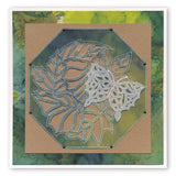 Leafy Butterfly Round <br/>A5 Square Groovi Plate <br/>(Set GRO-AN-40834-03)