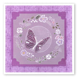Butterfly Wreath <br/>A5 Square Groovi Plate <br/>(Set GRO-FL-40013-03)