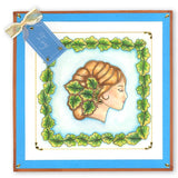 Ivy Cameo <br/>A6 Square Groovi Baby Plate <br/>(Set GRO-PE-40329-01)