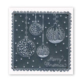 Christmas Baubles & Sentiments Collection <br/>A6 Square Groovi Plate Set + Spacer