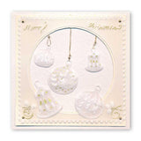 Christmas Tree Baubles <br/>A6 Square Groovi Baby Plate