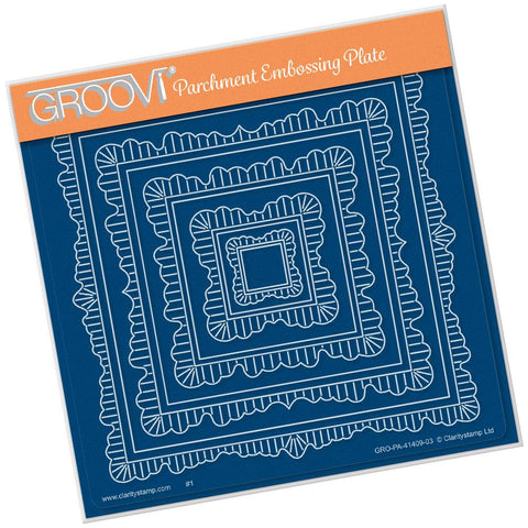 Linda's Nested Square Doily Frames <br/>A5 Square Groovi Plate