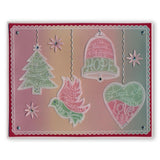 During this Christmas Verse No. 2 - Dove <br/>A5 Square Groovi Plate <br/>(Set GRO-CH-40724-03)