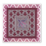 Floral Squares - Fuchsia <br/>Groovi Border Plate <br/>(Set GRO-FL-40421-09)
