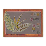 Funky Seed Heads & Leaves <br/>A6 Groovi Plate