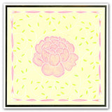 Peonies & Sprig Background <br/>A5 Square Groovi Plate Set