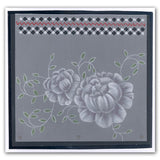 Sprig Background <br/>A5 Square Groovi Plate <br/>(Set GRO-FL-40011-03)