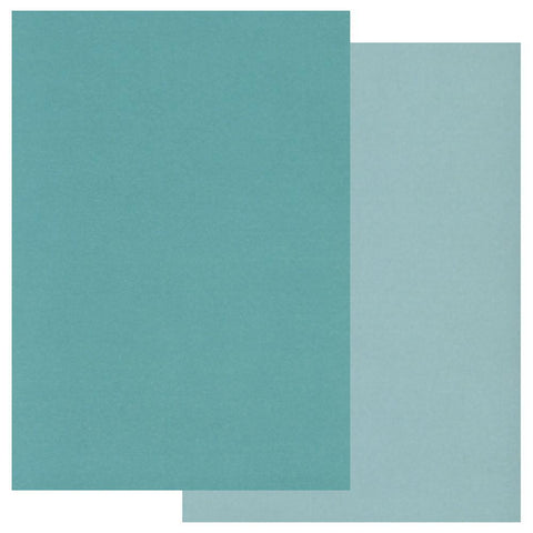 Teal x20 <br/>Groovi Two Tone Parchment Paper A5