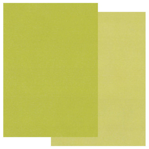 Green x20 <br/> Groovi Two Tone Parchment Paper A5