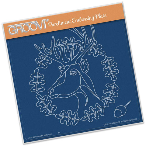 Oak Deer <br/>A5 Square Groovi Plate <br/>(Set GRO-AN-40108-03)