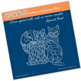 Cats <br/>A5 Square Groovi Plate <br/>(Set GRO-AN-40502-03)