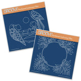 Birds & Flourish Frame A5 Square Groovi Plate Set