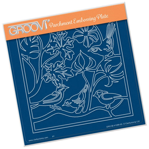 Birds Roosting A5 Square Groovi Plate