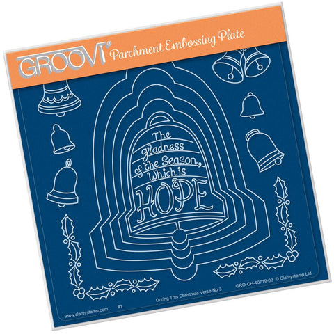 During this Christmas Verse No. 3 - Bell <br/>A5 Square Groovi Plate <br/>(Set GRO-CH-40724-03)