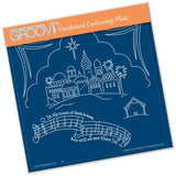 O Little Town <br>A5 Square Groovi Plate <br/>(Set GRO-CH-40799-03)