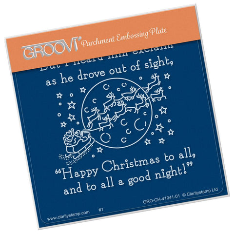 Twas the Night 15 - Good Night <br/>A6 Square Groovi Baby Plate