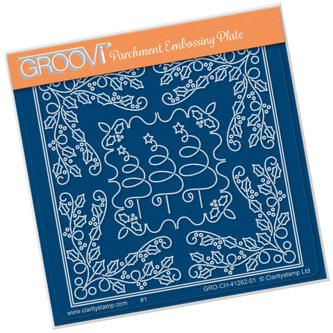 Tina's Christmas Tree Parchlet <br/>A6 Square Groovi Baby Plate