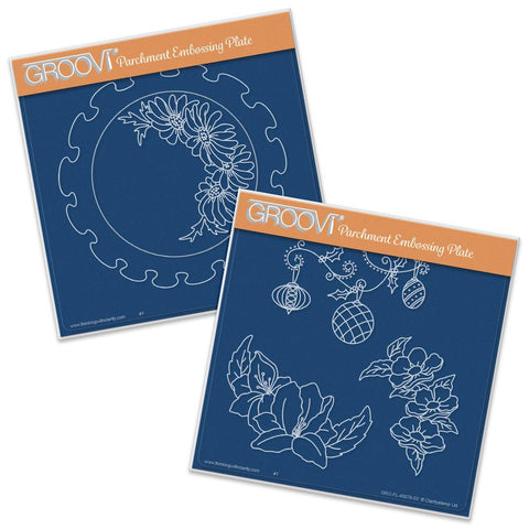 Frilly Circles <br/>A5 Square Groovi Plate Set