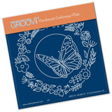 Baby Butterfly Wreath A6 Square Groovi Plate
