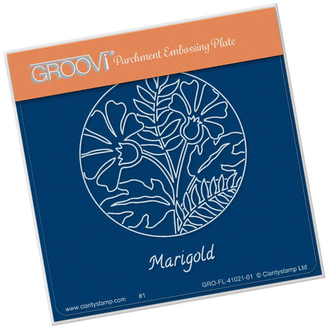 Marigold & Friends Round <br/>A6 Square Groovi Baby Plate